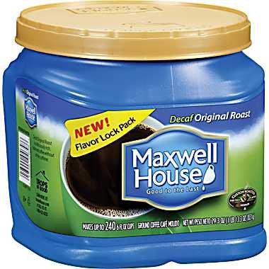 Maxwell House Decaf Original Roast (Medium) Ground Coffee, 29.3-Ounce Plastic Jugs (Pack of 2)