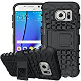 Galaxy S7 Case,K-Xiang (Armor Series) TPU Heavy Duty Dual Layer Shockproof Silicone Phone Protective Case Hybrid kickstand Cover for Samsung Galaxy S7 2016 (Not applicable Galaxy S7 edge) (Black)