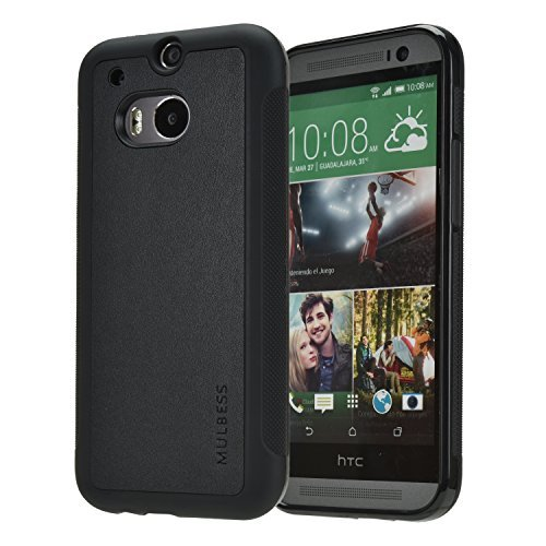 TPU Silicone Back Case for HTC ONE M8 (Black) - 1
