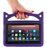 F i r e 7 2017 Case, F i r e 7 Tablet Case, F i r e 7 Kids Case, Lmaytech Kids Shock Proof Protective Cover Case for A m a z o n F i r e 7 Tablet (Compatible with 5th 2015/7th 2017) Purple)