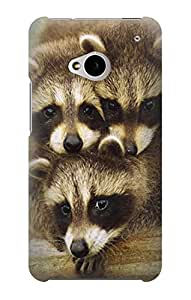 S0977 Baby Raccoons Case Cover For HTC ONE M7