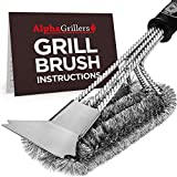 Alpha Grillers Grill Brush with Scraper