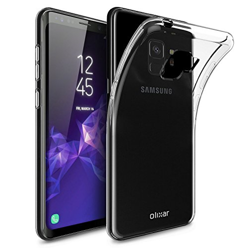 Olixar Samsung Galaxy S9 Clear Cover Case - Slim Soft Gel Cover - Ultra Thin 100% Clear - Flexible Transparent Case - Wireless Charging Compatible