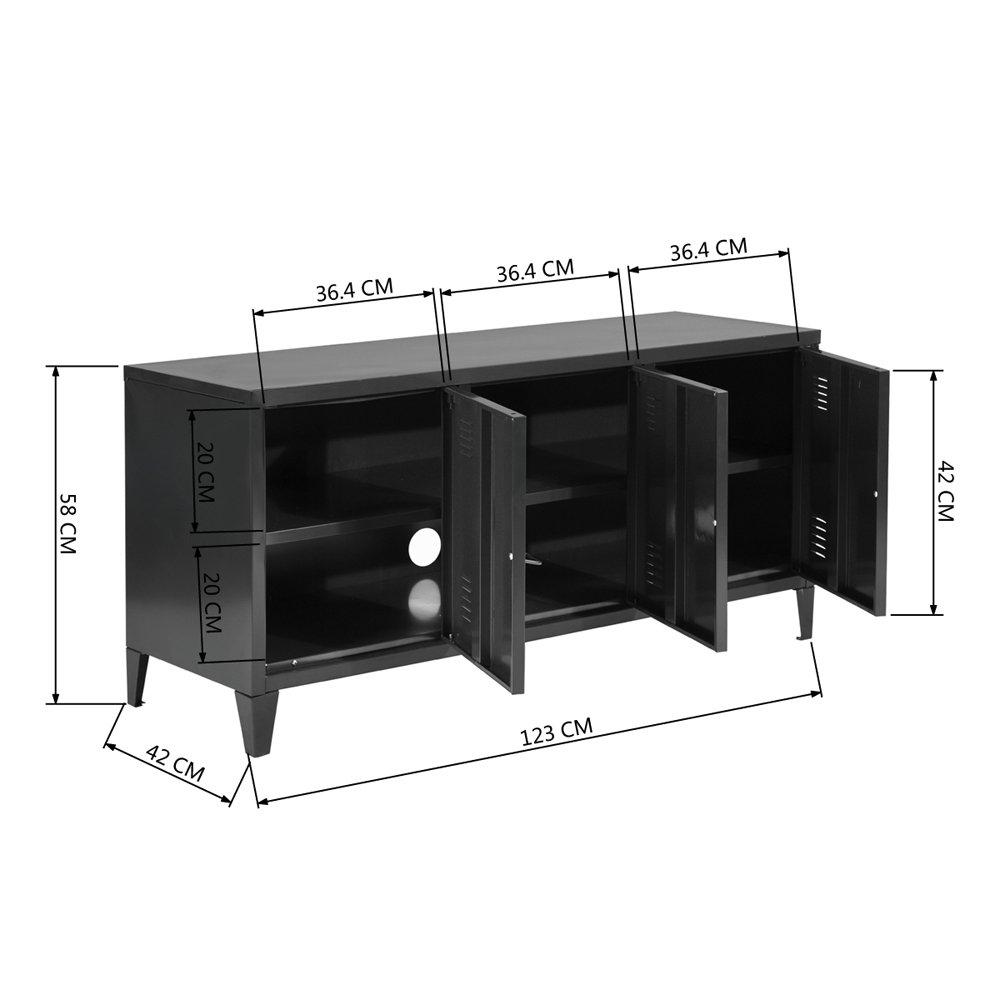 HouseinBox Back To School Home Office Lab Storage High Standing Locker Organizer File Storage Chest Metal Cabinet 1 Door 3 Shelves