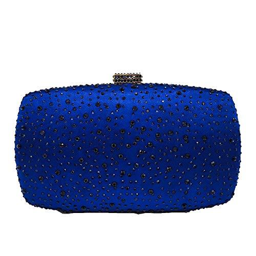 (Diamond Women Evening Handbags Purse Minaudiere Clutch Bag (Blue))