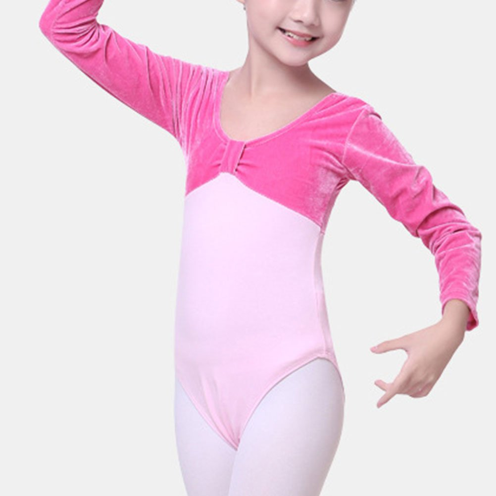 Zhuhaitf Fashion Ballet Stitching Velvet Leotard Dance Gym Gymnastics Dancewear