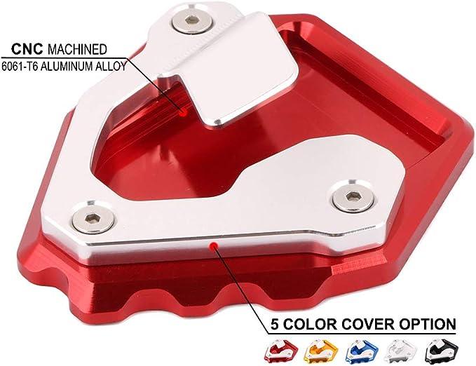 Three T Seitenst/änder Pad Motorrad Kickstand Extension Platte Pads Vergr/ö/ßern f/ür S1000R/2014 2015 2016