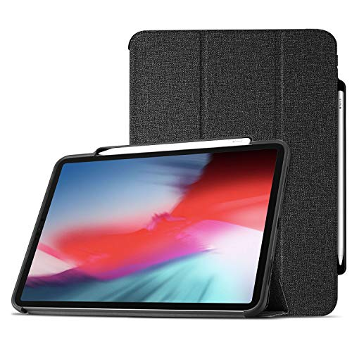 (ProCase iPad Pro 12.9 Case 2018 with Apple Pencil Holder [Support Apple Pencil Charging], Protective Smart Cover Shell Stand Folio Case for Apple iPad Pro 12.9 Inch 3rd Gen 2018)