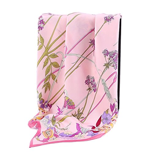 Jeelow 100% Pure Silk Scarf Scarves For Men & Women 36in Square Silk Twill Scarfs For Hair Gift Packaging by Jeelow