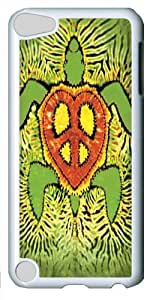 Rasta Peace Turtle Polycarbonate Hard Case Cover for apple iPod 5/iPod Touch 5 White