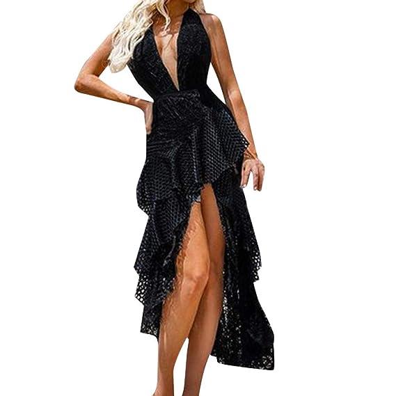 Vestidos de Fiesta Mujer Largos, MINXINWY Vestido Largo de ...