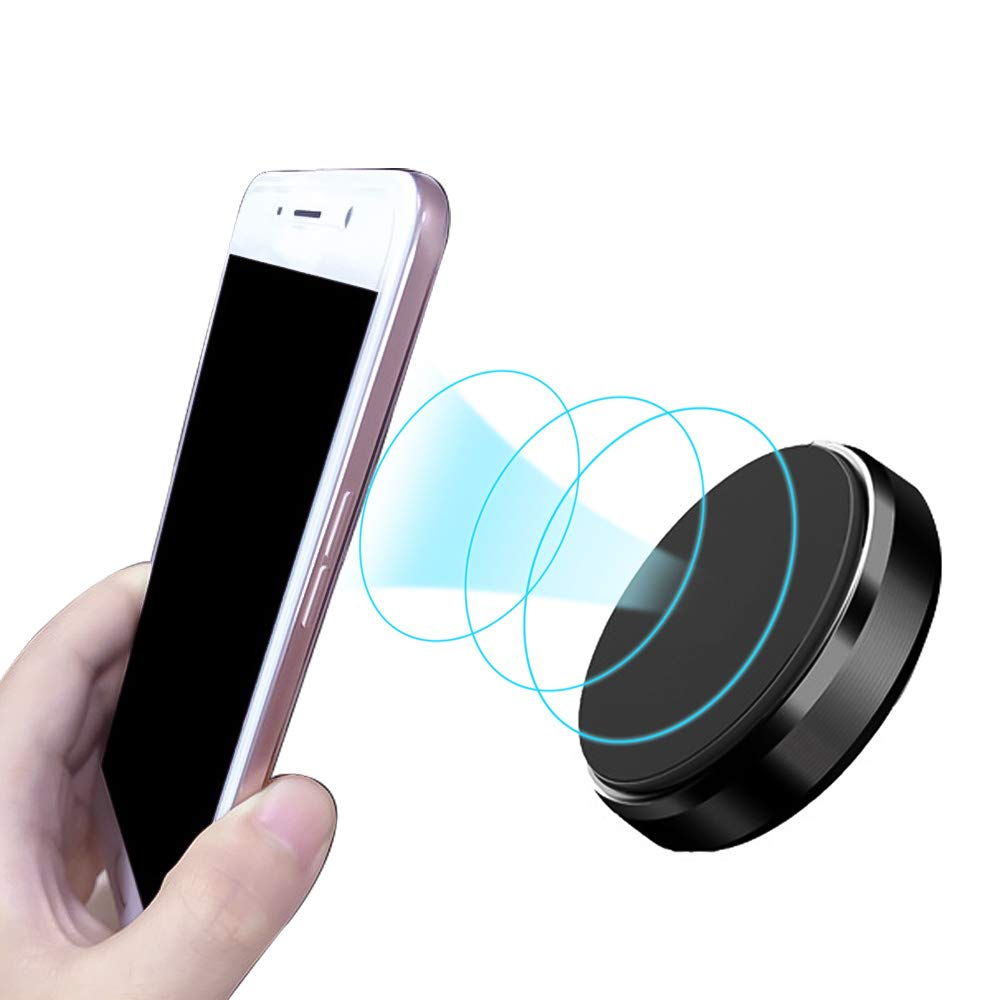 Loweryeah Universal Magnetic Car Phone Holder Air Vent Magnetic Car Mount Phone Holder for Cell Phones/Mini Tablets Round Black 1 pcs
