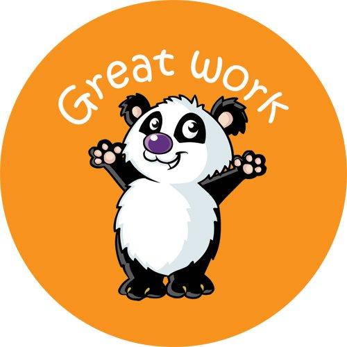 144 x great work 30mm children reward stickers for school