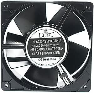 Luft Ventilador para cassette,insertable,ventilador axial120x120x38mm,aspas metálicas,super silencioso.: Amazon.es: Bricolaje y herramientas
