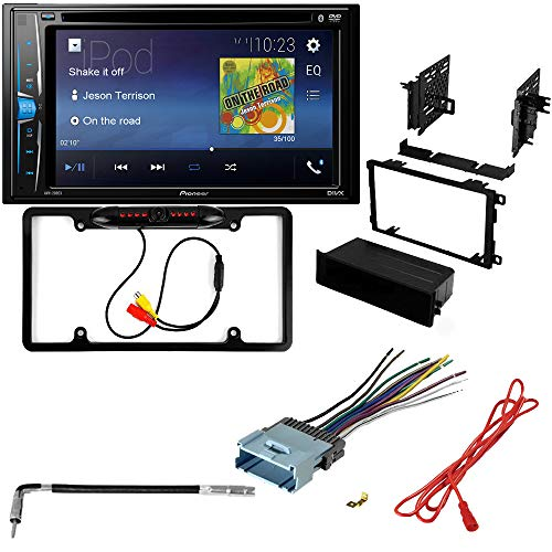 CACHÉ KIT154 Bundle - Complete Car Stereo Installation Kit with Receiver - Compatible with 2003-2008 Isuzu Ascender - Bluetooth DVD Touchscreen Radio - Backup Camera, Double Din Mounting Kit (5 Item)