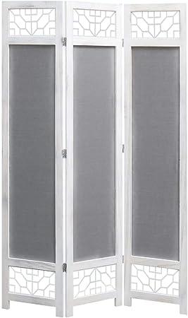 Festnight Biombo de 3 Paneles Biombos Decorativos Biombo Separador Divisor de Habitaciones con 3 Paneles Plegables Tela Gris 105x165 cm: Amazon.es: Hogar