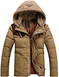 "<span class=""a-offscreen"">[Sponsored]</span>Winter Down Puffer Coats Thicken Trench Jacket with Removable Hood"