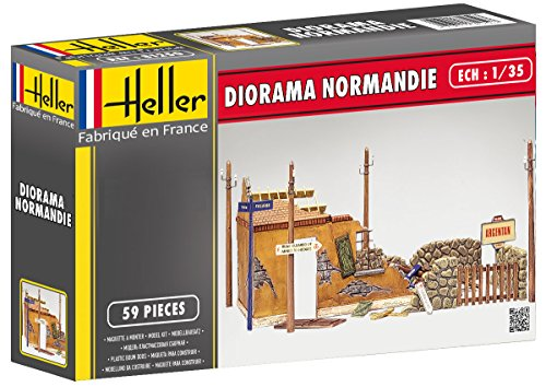 1:35 Heller Normandy Ruin Diorama Model (Military Dioramas)