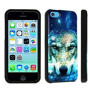 DuroCase ? Apple iPhone 5c Hard Case Black - (Wolf In Space)