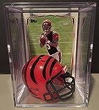 Cincinnati Bengals NFL Helmet Shadowbox w/ AJ McCarron card