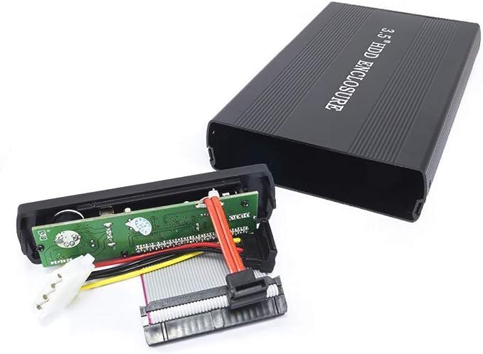 tradeshoptraesio® – Case Box externo para hardisk Disco Duro de Aluminio HD 3.5 IDE SATA USB 2.0 HDD: Amazon.es: Electrónica