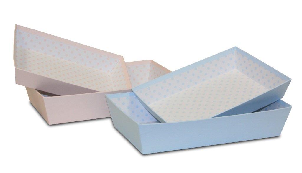 BUAR ARTESANOS Set DE Tres BANDEJAS Carton (Rosa, 33x20x7 cm ...