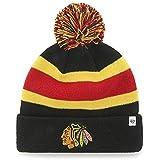 3ce09c99a4b4e  47 Brand Breakaway Cuff Beanie Hat with POM POM - NHL Cuffed Winter Knit  Baseball.
