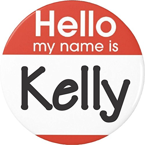 "Hello my name is Kelly 2.25"" Large (Kelly Kapowski Halloween Costume)"