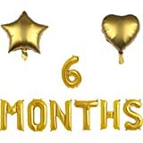 6 Months Balloons, 1/2 Year Banner, 6 Months Pregnant/One Half Year Birthday Baby Shower Party Supplies Decorations