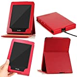 (US) MoKo Case for Kindle Paperwhite, Premium Vertical Flip Cover with Auto Wake / Sleep for Amazon All-New Kindle Paperwhite (Fits All 2012, 2013, 2015 and 2016 Versions), RED