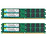 DUOMEIQI 8GB Kit (4 X 2GB) DDR2 800MHz UDIMM 2RX8 PC2-6300 PC2-6400 240pin CL6 1.8v Unbuffered Non-ECC Dual Channel Desktop Memory RAM Module for Intel AMD System