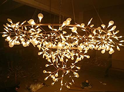 Kronleuchter Mit Blättern ~ Zhgi firefly kronleuchter kreative kunst zweige blätter moderner