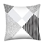 Psunrise La Almohada Soft Simple Geometric Print Pillow Case Polyester Sofa Car Cushion Cover Home Decor(45x45 cm, G)