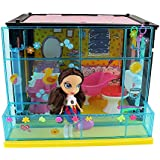 Doll House Toy Furniture Folding Girls Kids Play Dollhouse Accessories Set Toilet