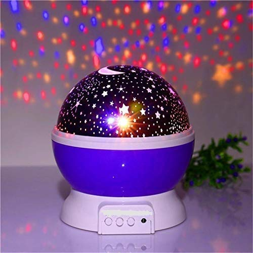 Boriva Star Master Colorful Romantic LED Cosmos Sky Starry Moon Beauty Night Projector Bed Side Lamp with USB Cable