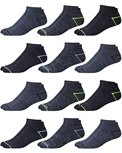 'Reebok Men\'s 12 Pack Quarter Cut Basic Cushion Socks (Shoe Size: 6-12.5, -