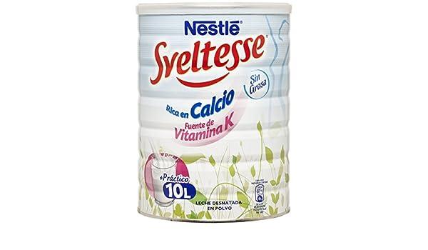 Nestlé Sveltesse Leche desnatada en Polvo - Bote 12 x 1 kg: Amazon.es: Alimentación y bebidas