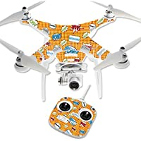 MightySkins Protective Vinyl Skin Decal for DJI Phantom 3 Standard Quadcopter Drone wrap cover sticker skins Pop Art