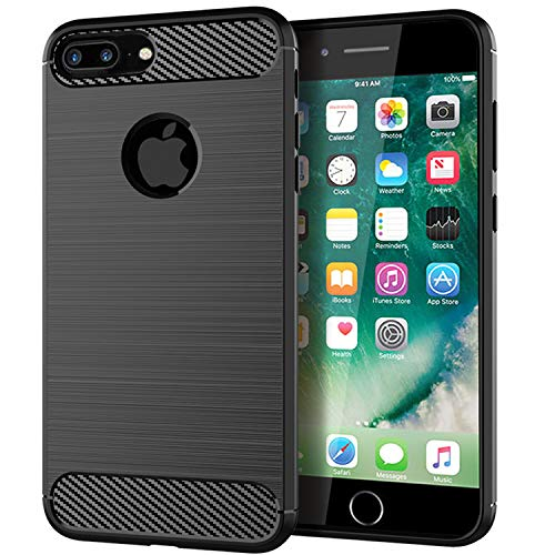 iPhone 8 Plus Case, iPhone 7 Plus Case, Brushed Texture Anti-Fingerprint Flexible Full-Body Protective Cover for iPhone 8 Plus/7 Plus
