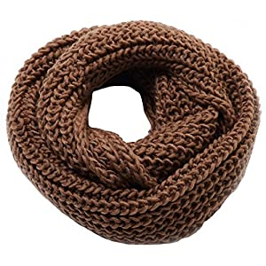 Jemis Women' s Super Soft Winter Knit Warm Infinity Scarf