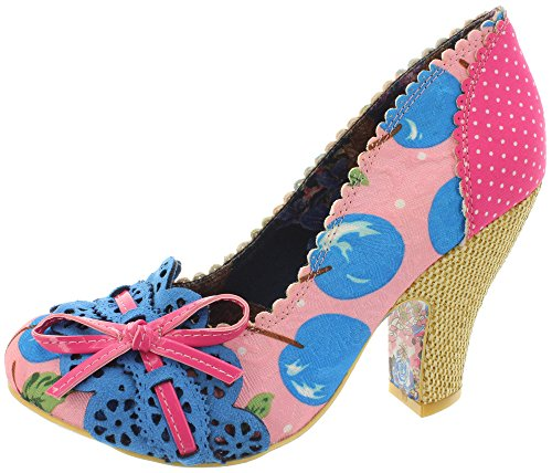 Irregular Choice Make My Day - Tacones Mujer Rosa (Rosa/Blau)