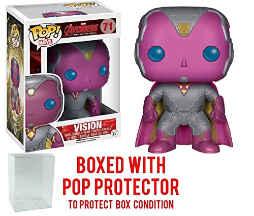 Funko Pop! Marvel: Avengers 2 Age of Ultron - Vision Vinyl Figure (Bundled with Pop BOX PROTECTOR CASE)