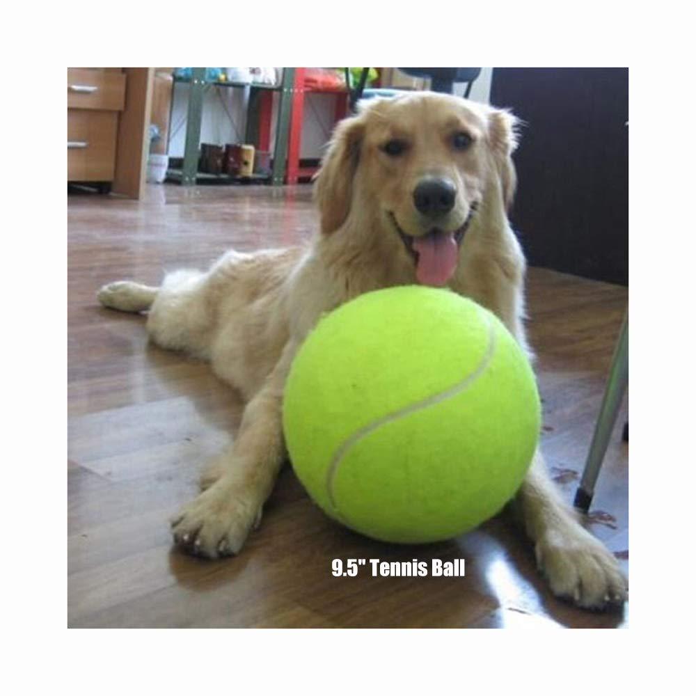 Giant Tennis Ball 9.5 Pet Tennis Ball Signature Jumbo Tennis Ball Kids Toy Best Gifts for Large Dogs Big Dog Toy Xuanyun