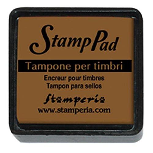 Cuscinetto inchiostrato 2.5x2.5 cm per timbri Marrone chiaro © Stamperia WKP28P