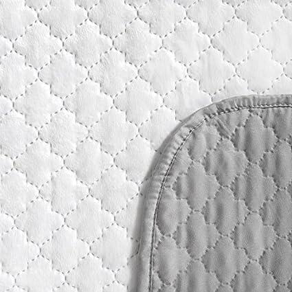 Tagesdecke Bettüberwurf Velvet Weich TITO creme Tagesdecken braun Steppung Velours 220x240 cm
