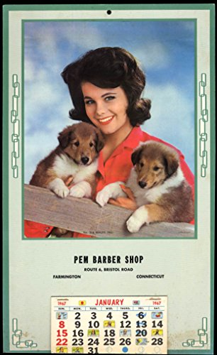 Pem Barber Shop Farmington CT calendar 1967 Beauty Trio brunette & - Calendar 1967