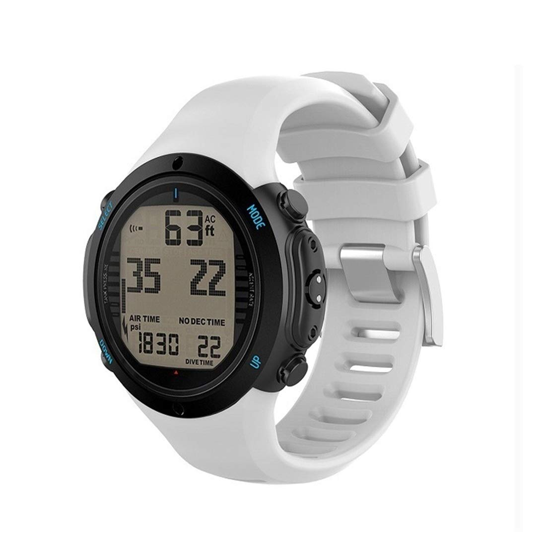 Smart Watch Silicone Wrist Strap Watchband for Suunto D6i Premium Quality (Color : White) by GuiPing