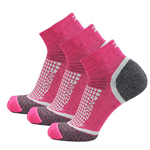 Zensah Wool Running Socks - Comfortable Grit Ankle Athletic Sport Sock - Moisture Wicking, Anti-Blister