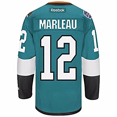 Patrick Marleau San Jose Sharks NHL Reebok Men's Teal Green Name & Number Player #12 Jersey