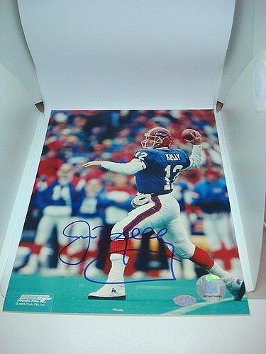 8106e65de99 Jim Kelly Signed Buffalo Bills 8x10 Picturegraph Mounted Memories COA Signed  - Authentic Autograph